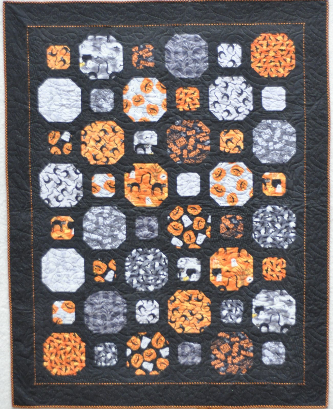 Spooky Vibes Halloween Quilt Kit - 63 x 80