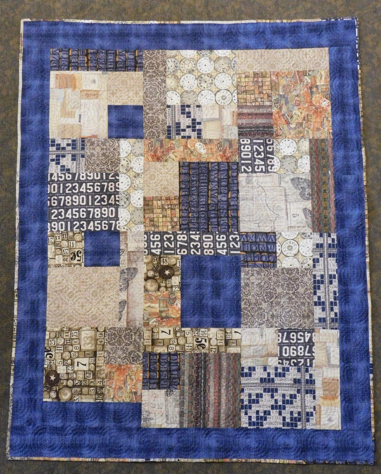 Square Dance Quilt Kit - 58 x 74