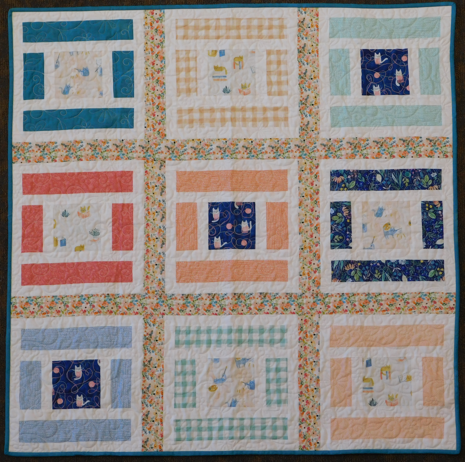 Lillian and Oliver quilt Kit 42 x 42