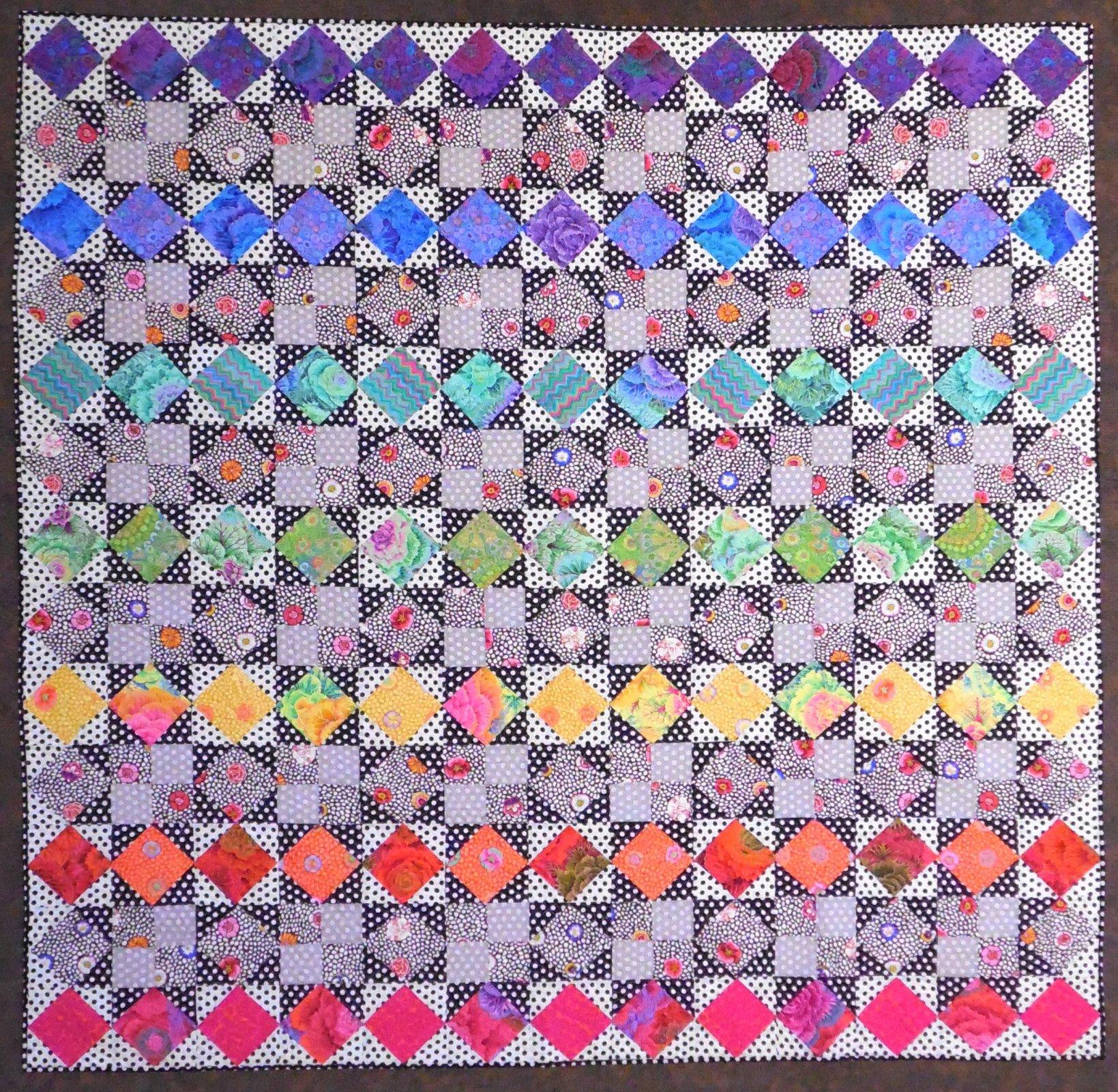 Rainbow Star Quilt Kit 78 x 78 - Round 2