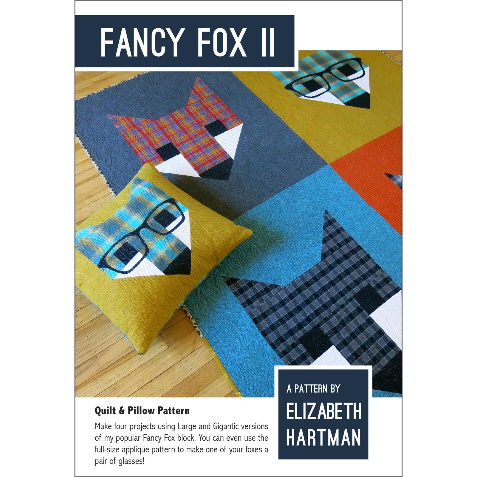 Fancy Fox 2 - Quilt & Pillow Pattern by Elizabeth Hartman