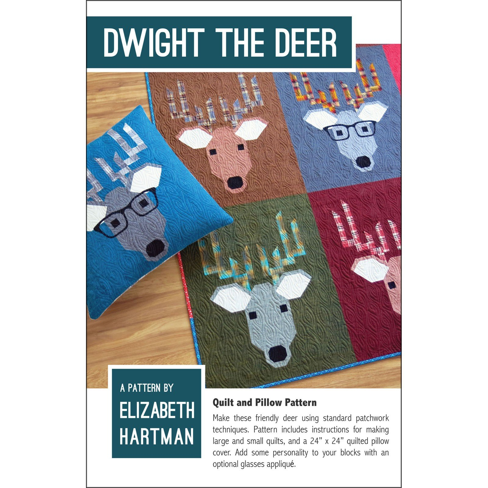 Dwight the Deer Quilt and Pattern by Elizabeth Hartman
