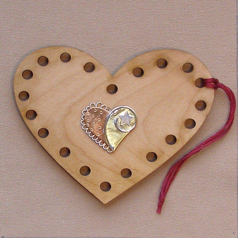 Heart - Puffin Palette Thread Organizer