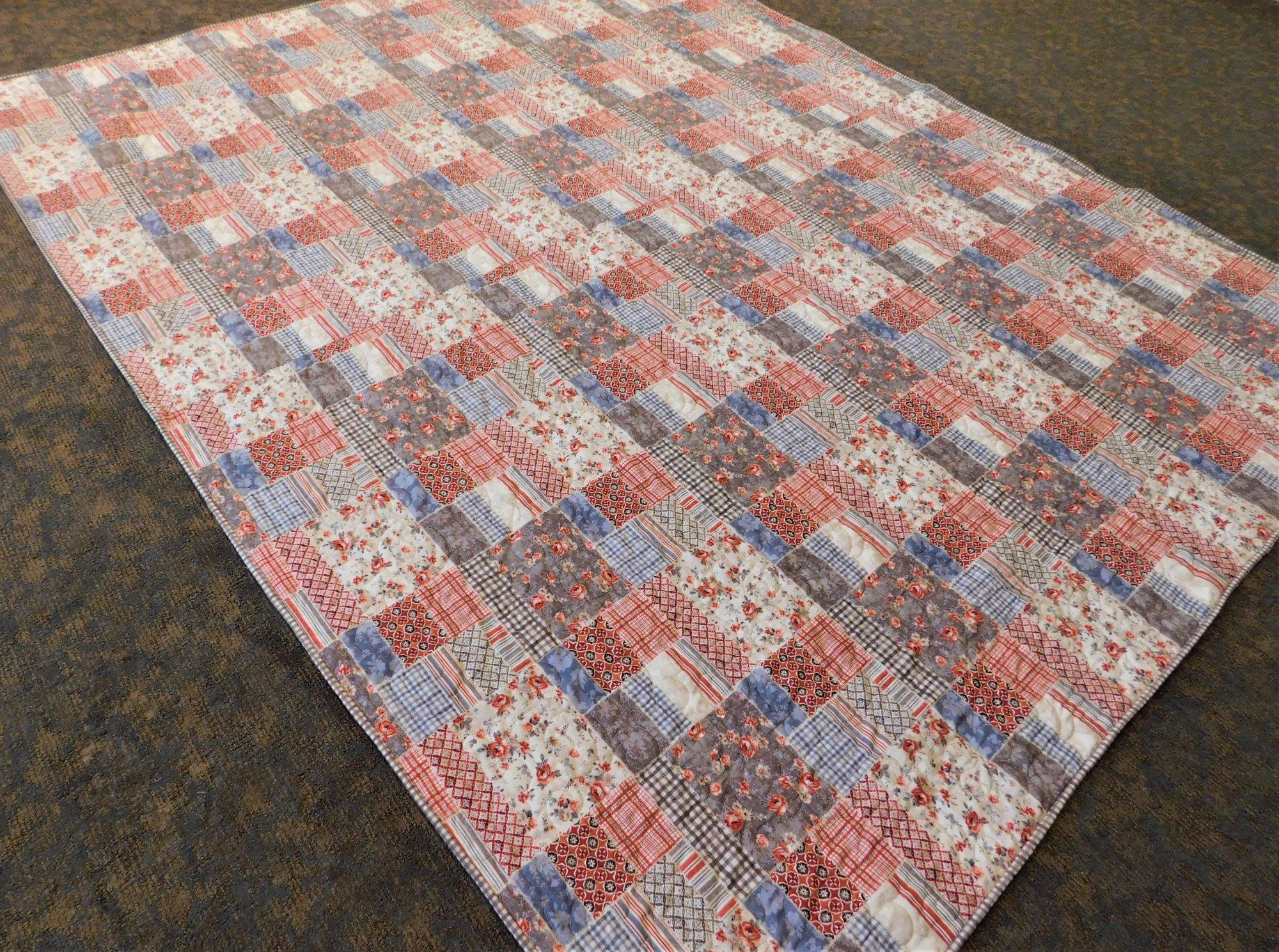 Farmhouse Chic Patchwork Print Quilt Kit - 72 x 84
