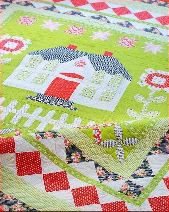 Farm Cottage Quilt Kit - 66 x66