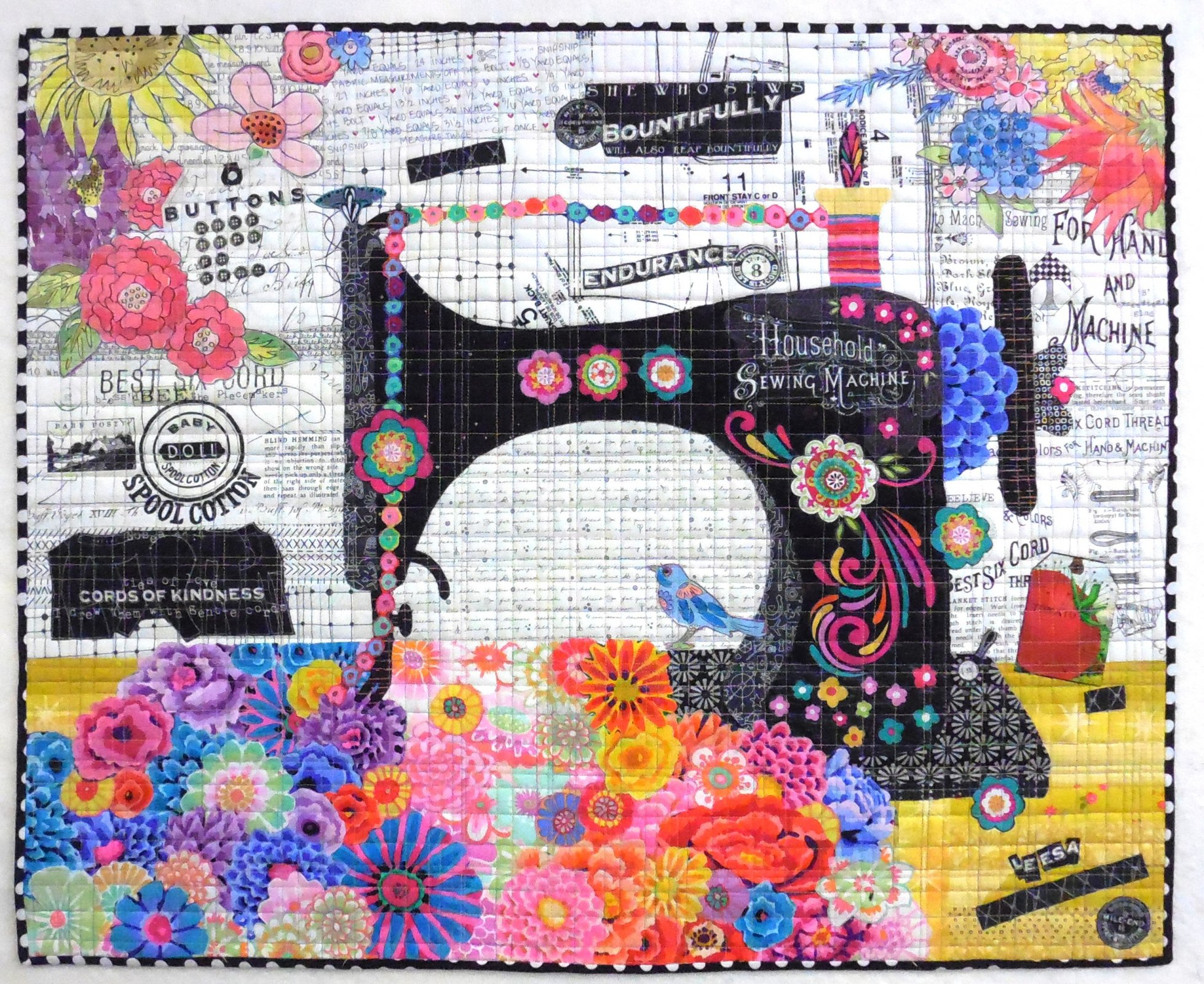 Featherweight Collage Fabric Kit by The Quilters Lodge