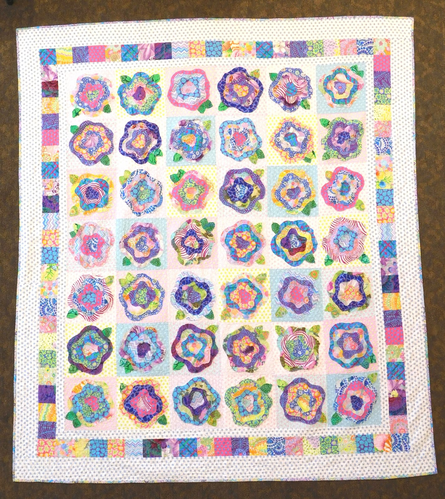 French Roses in Kaffe - Quilt Kit 72 x 81
