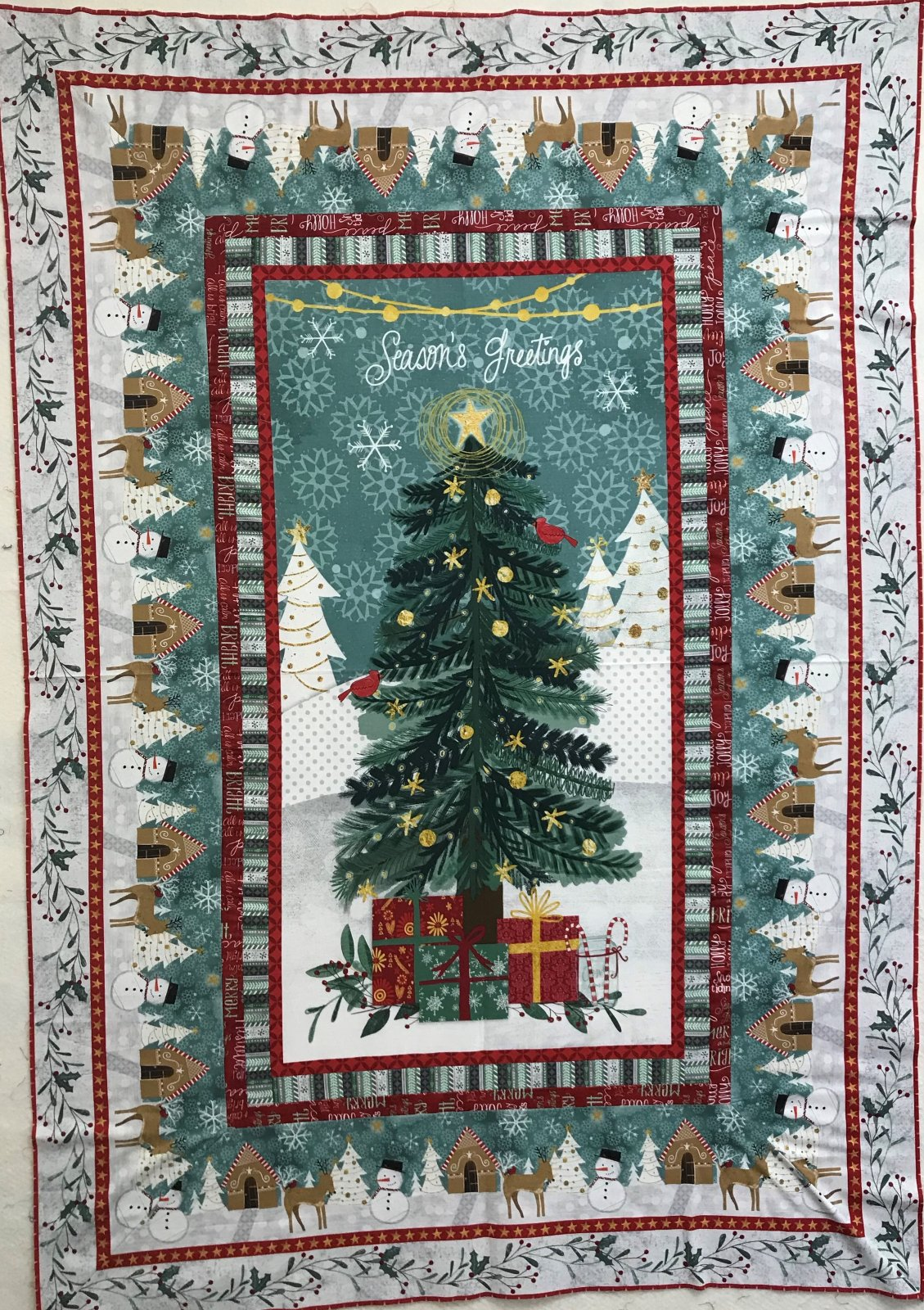 Frosted Holiday Quilt Kit - 46 x 67