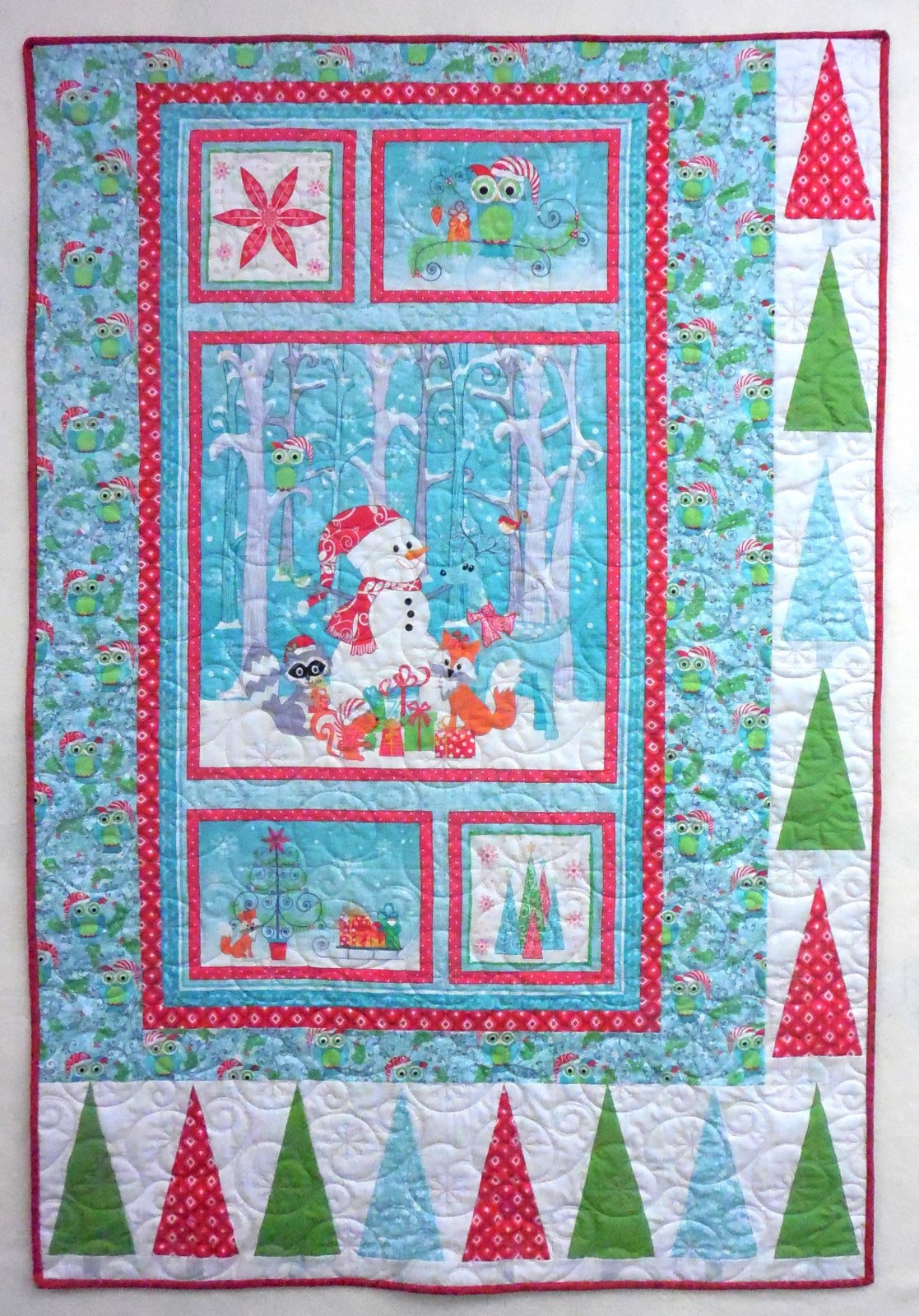 Frosty Forest Christmas Quilt Kit - 40 x 60