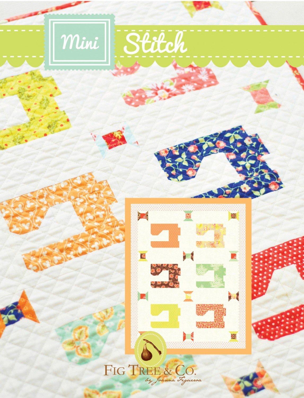 Mini Stitch Quilt Pattern by Fig Tree - 22 1/2 x 28 1/4