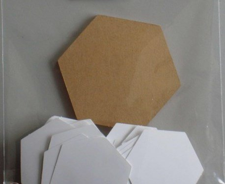 1/2 Hexagon - English Paper Piecing - Papers Only