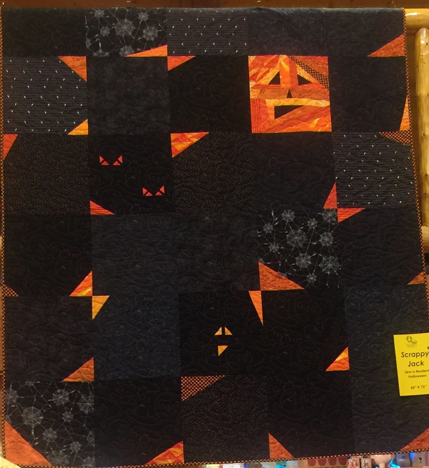Scrappy Jack - Bits and Pieces Halloween Quilt Kit - 60 x 72