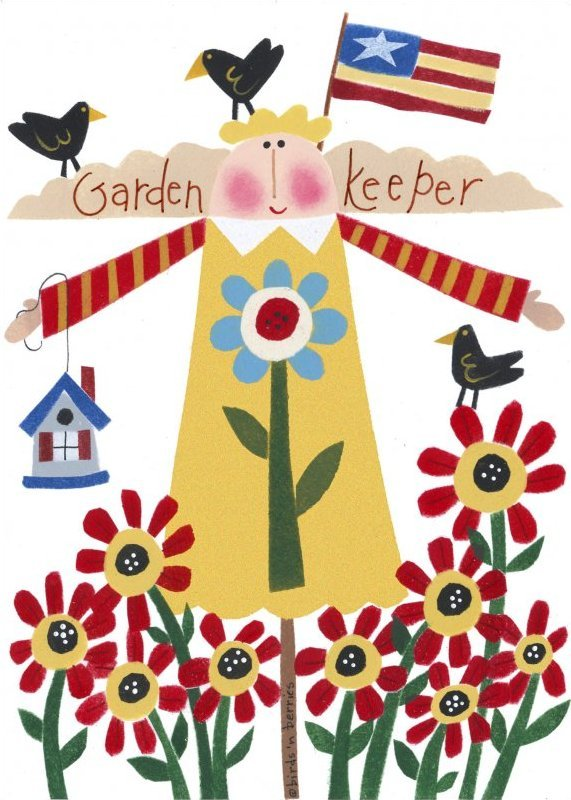 Garden Girl - Greeting Card