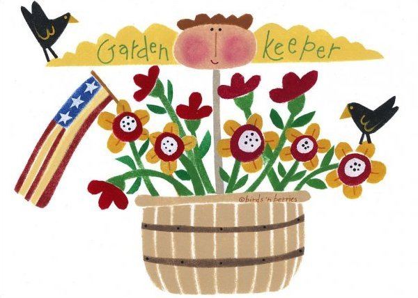 Garden Keeper - Greeting Card
