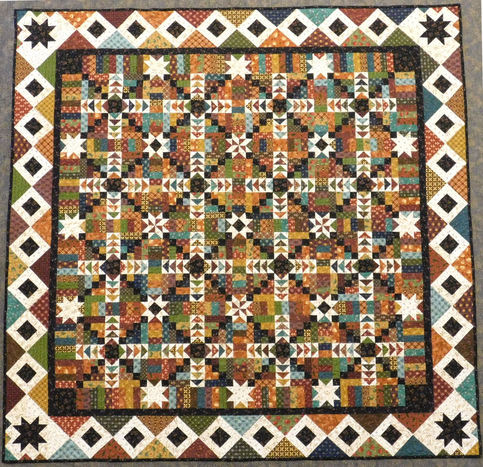 Geese on the Meadow by Kim Diehl - Block of the Month Block 1