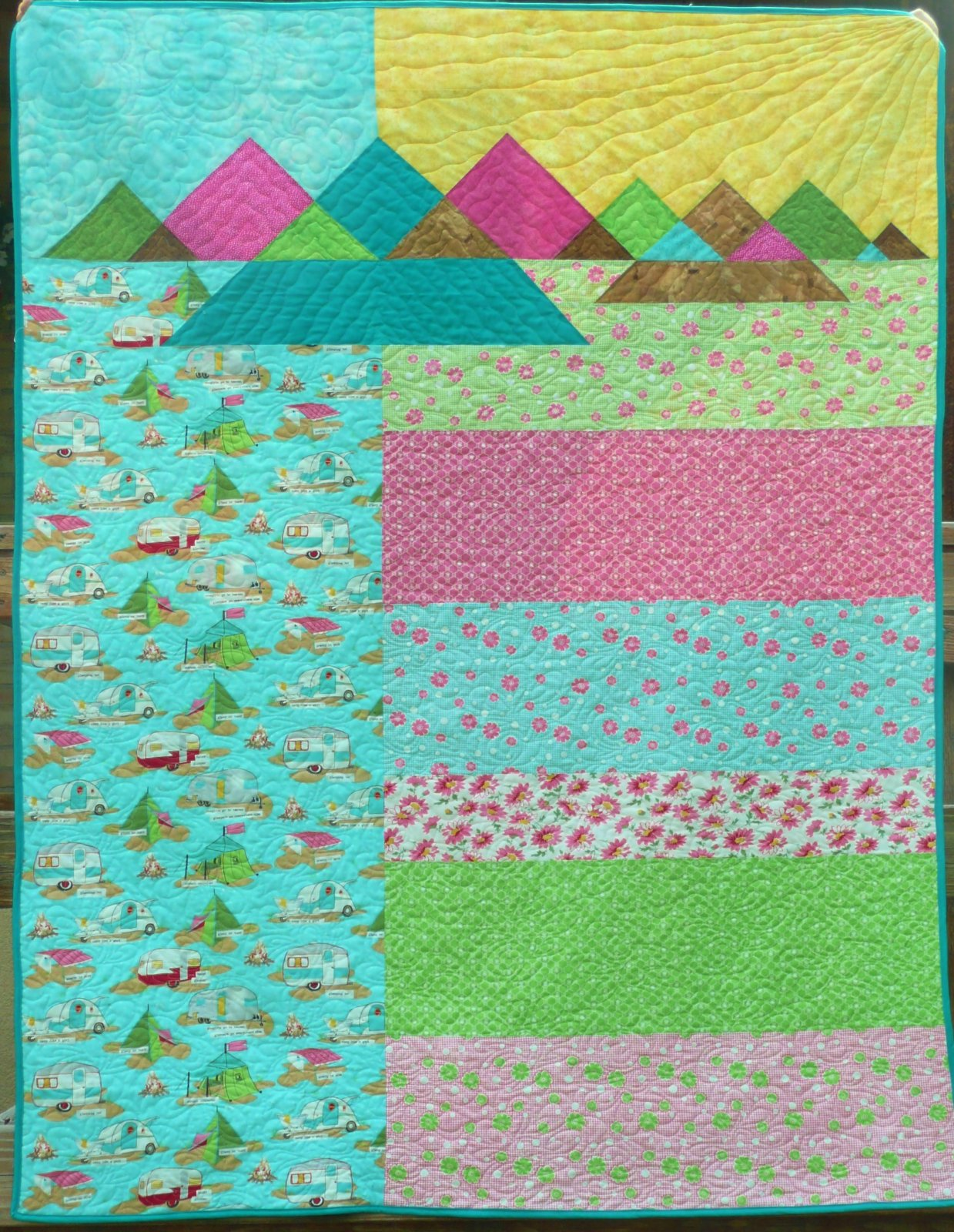 Glamping in the Mountains Quilt Kit 53 x 70