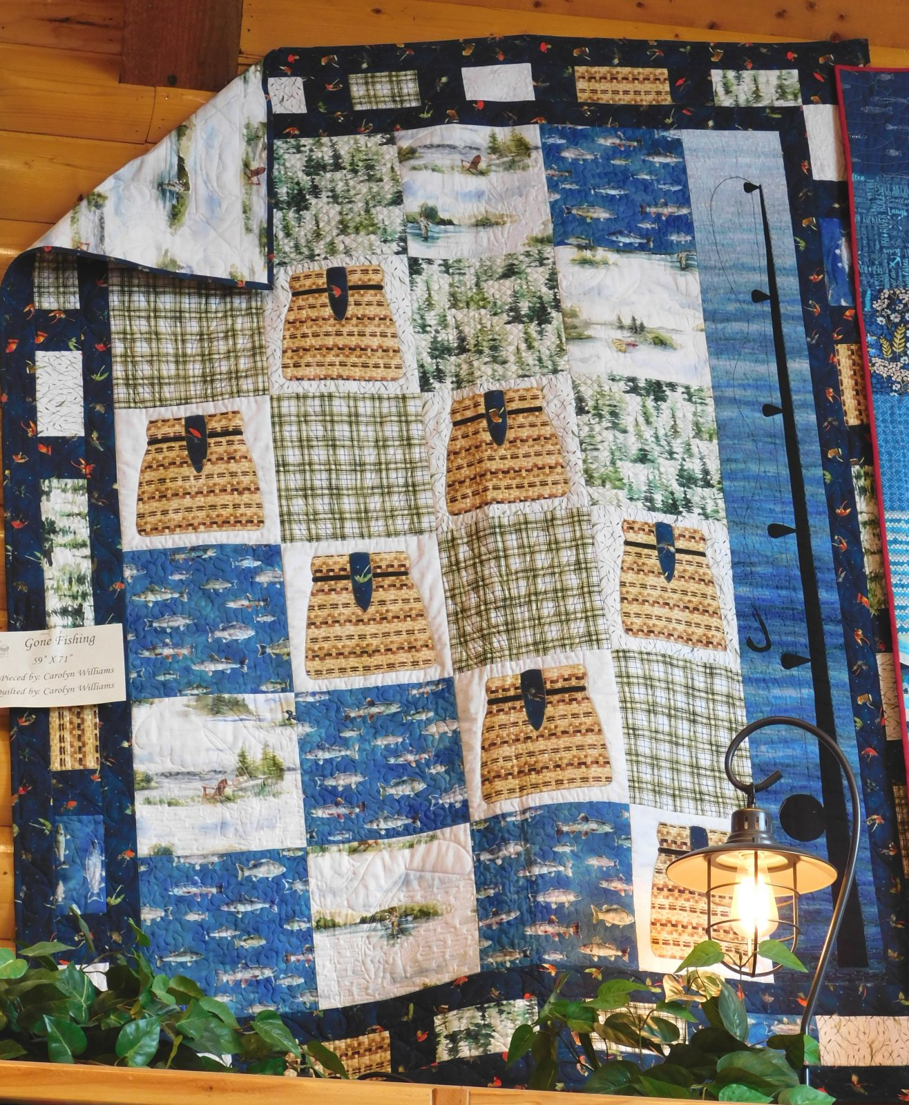 Gone Fishing Quilt Kit 61 x 74