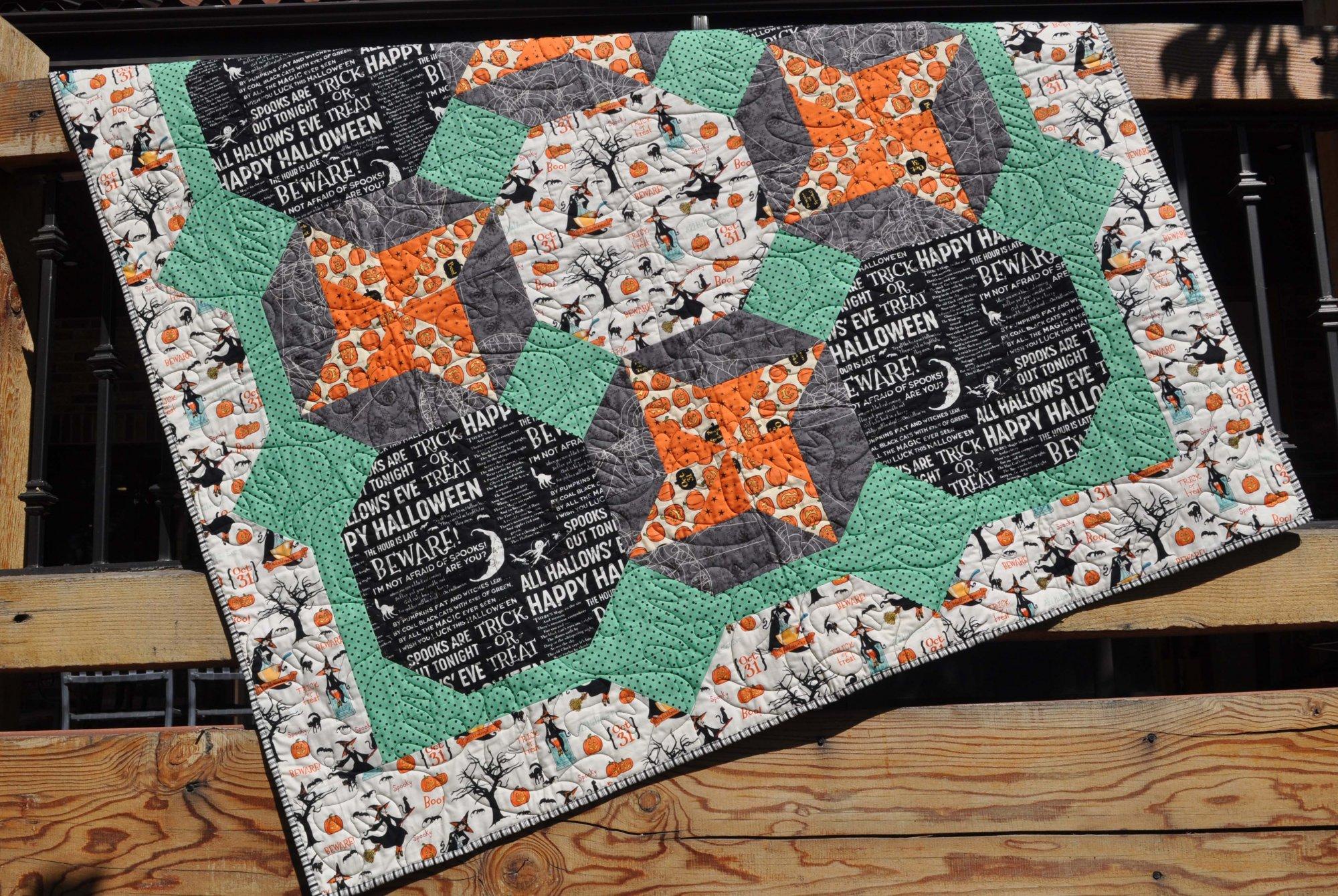 Halloween Quilt -Witch Hazel Fabrics - 63 x 63