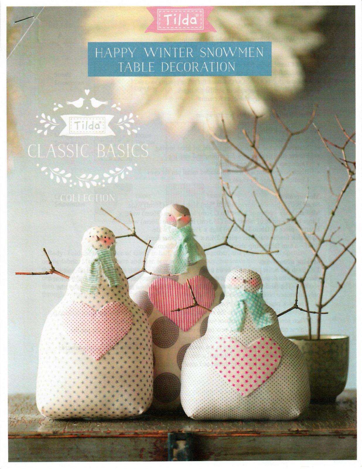Happy Winter Snowman Table Decoration Kit