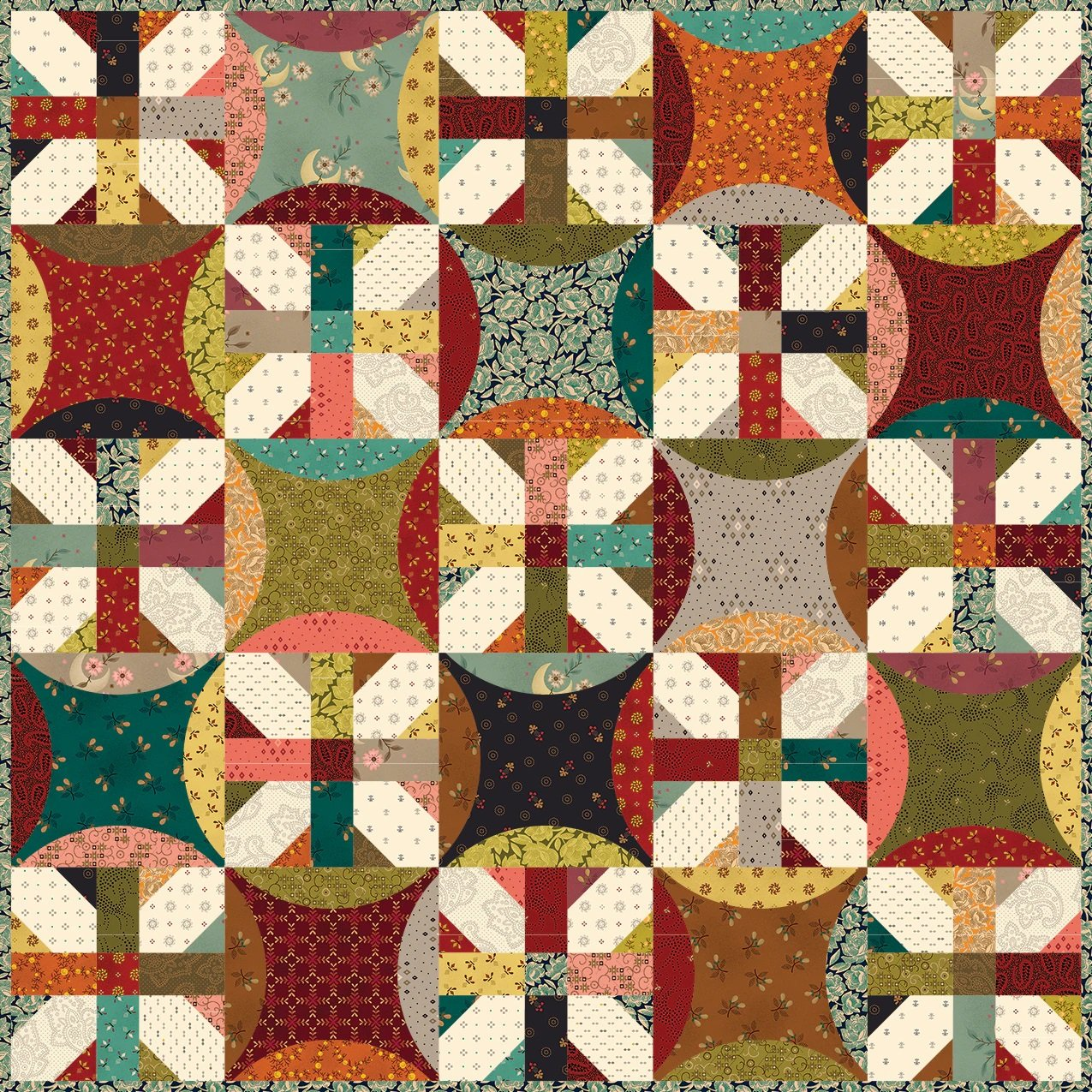 Simple Whatnots 10 - Heartstrings Quilt Kit - 25 1/2 x 25 1/2
