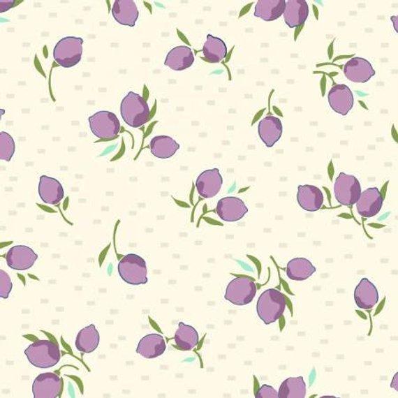 EOB - 1 3/4 yards - Hello Jane - Fruit - Lilac