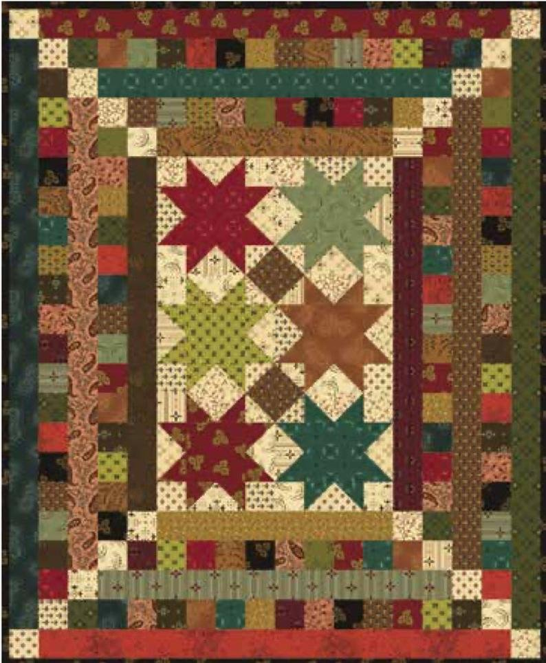 Simple Whatnots 9 - Hickory Dickory Quilt Kit 18 1/2 x 22 1/2