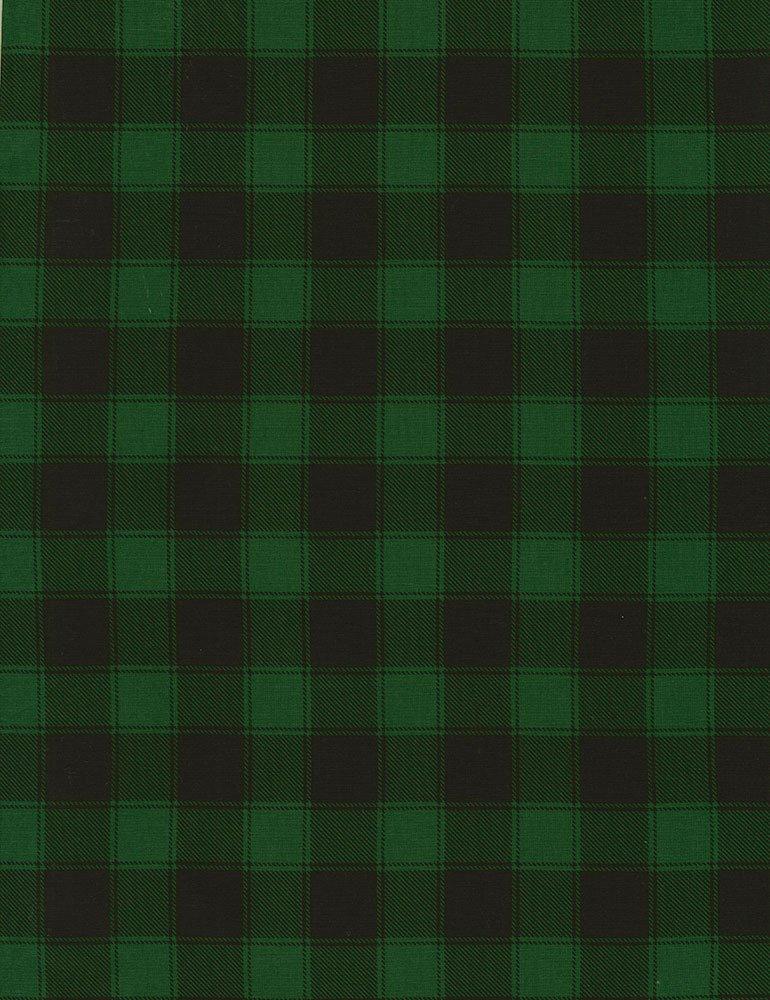 Christmas Cabin - Buffalo Check - Green