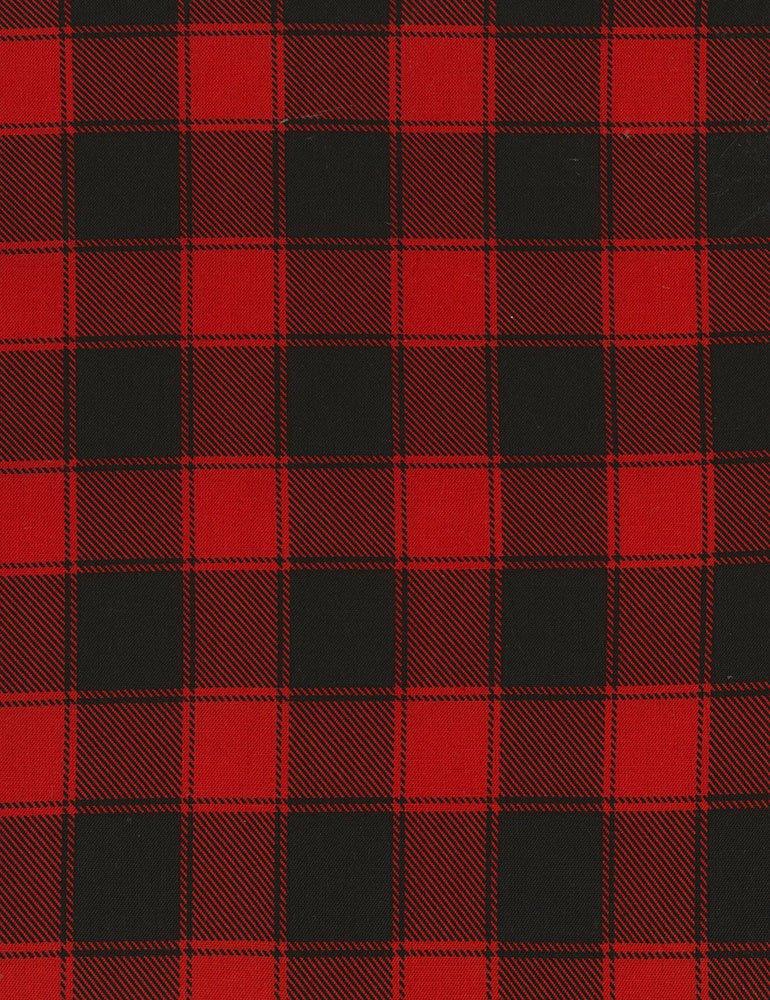 Christmas Cabin - Buffalo Check - Red