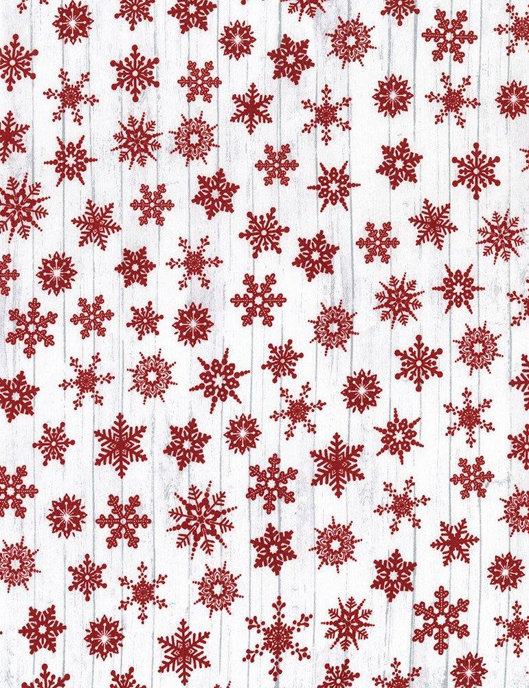 Christmas Cabin - Snowflakes - White