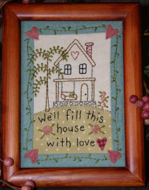 Home Stitchery Pattern by Bareroots
