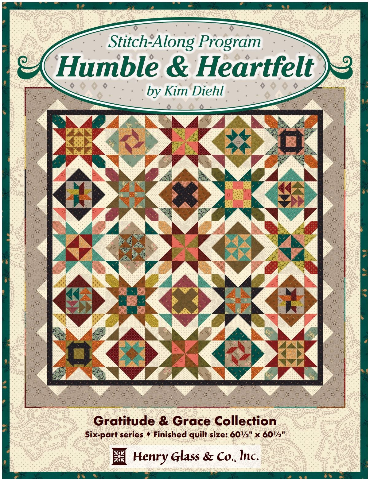 Humble & Heartfelt by Kim Diehl Block of the Month 1