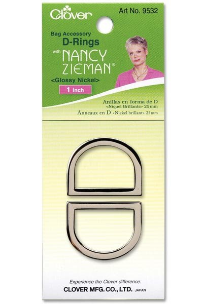 1 D - Rings by Clover with Nancy Zieman - Glossy Nickel