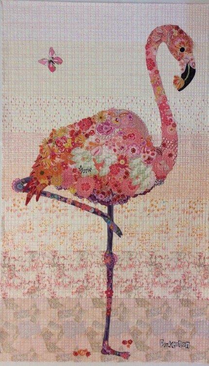 Pinkerton the Flamingo Colage Pattern by Laura Heine of Fiberworks