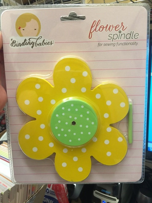 Flower Spindle Yellow Green - White Dots