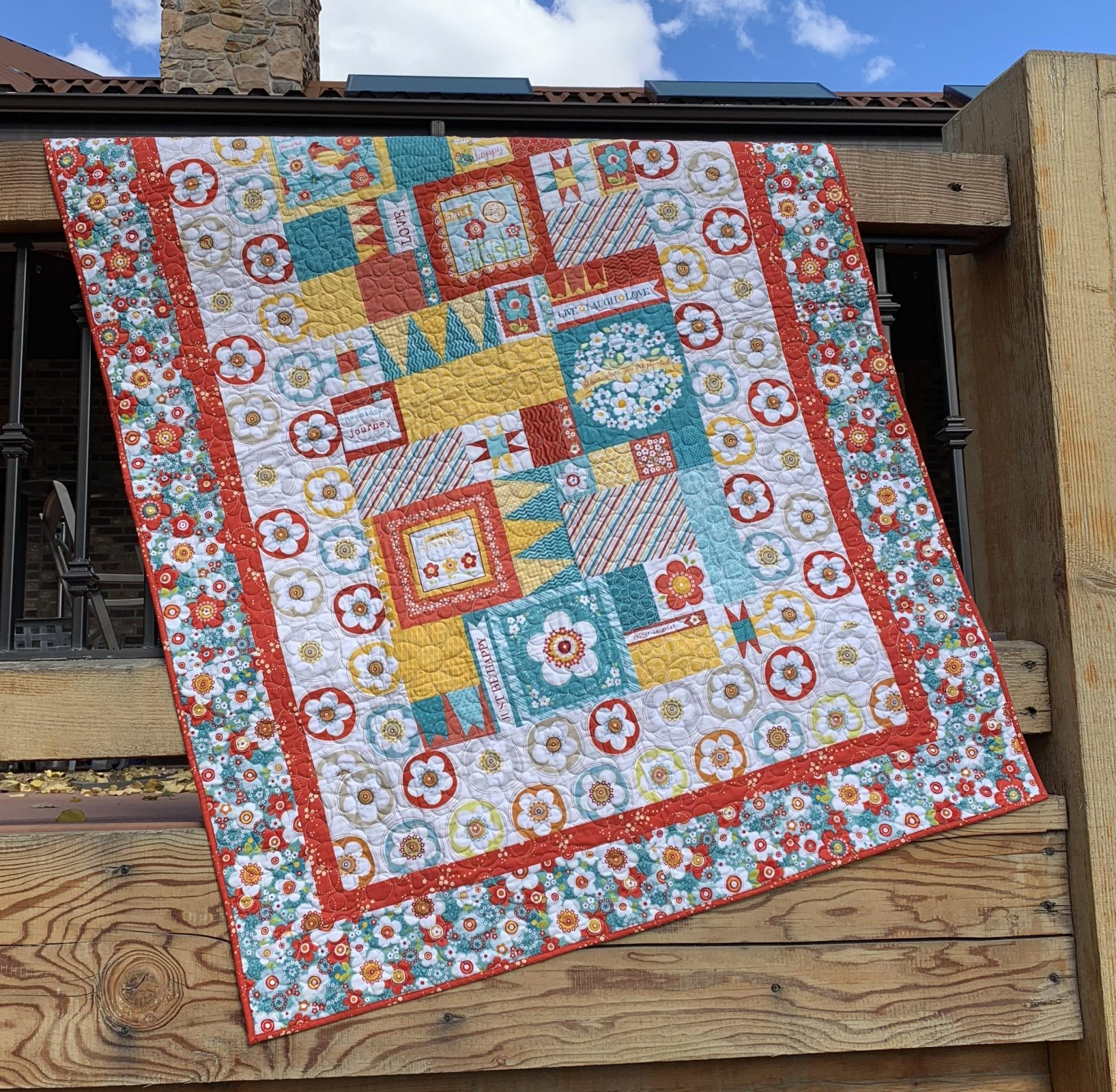 Live Laugh Love Quilt - 49 x 67