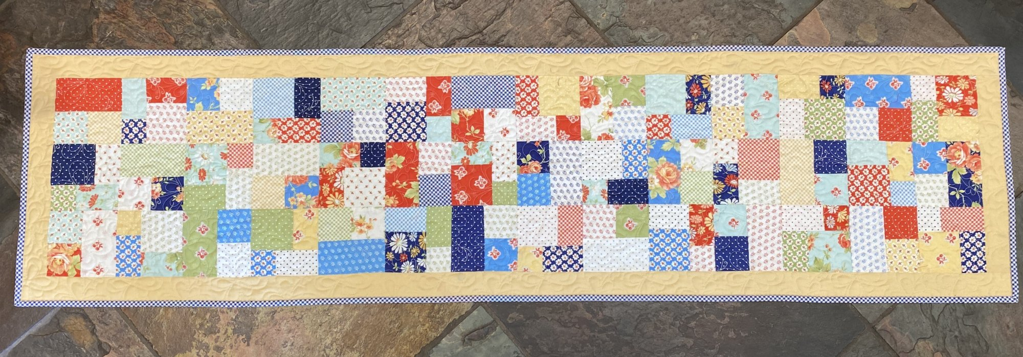 Mini Brick Road Table Runner 15 1/2 x 59 1/2