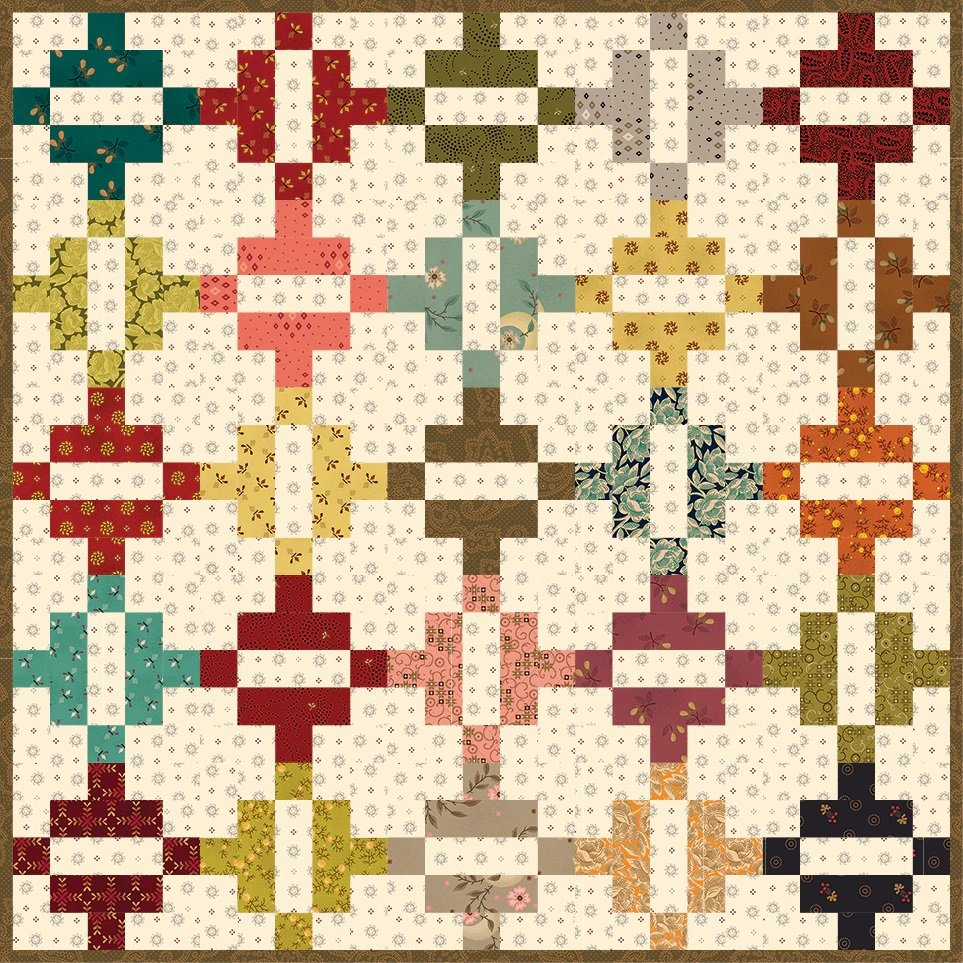Simple Whatnots 10 - Kick The Can Quilt Kit - 19 1/4 x 19 1/4
