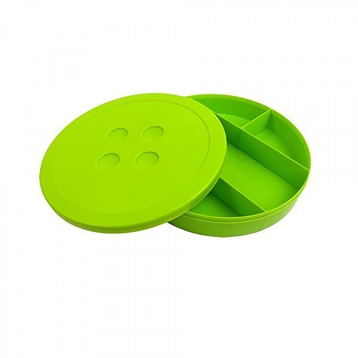 Button Shaped Storage Box - Large - Lime Green