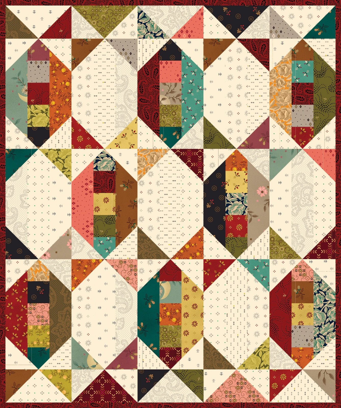 Simple Whatnots 10 - Laugh Yourself Silly Quilt Kit - 15 1/2 x 18 1/2