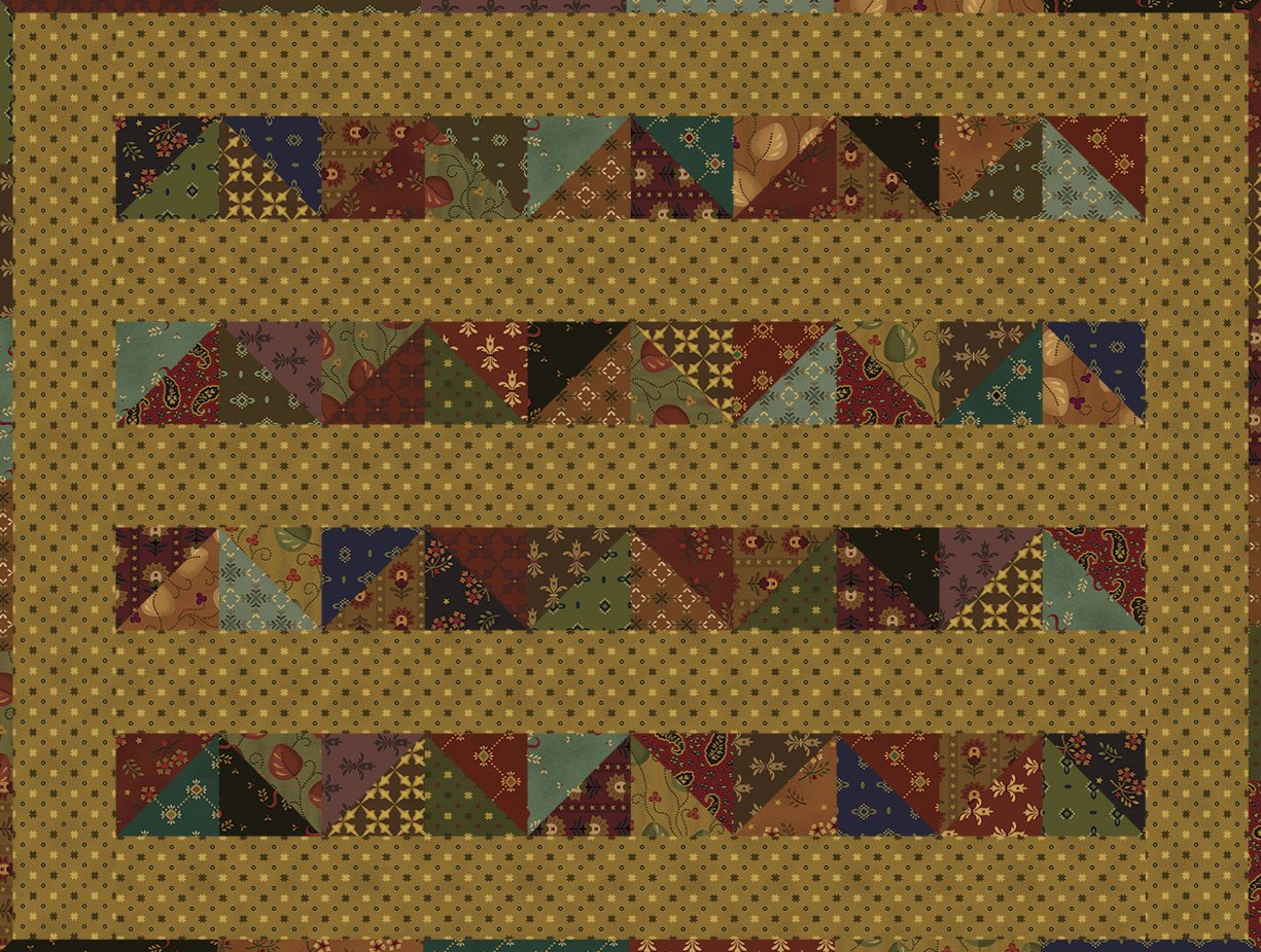 Simple Whatnots 8 - Lickety Split Quilt Kit - 18 1/2 x 24 1/2