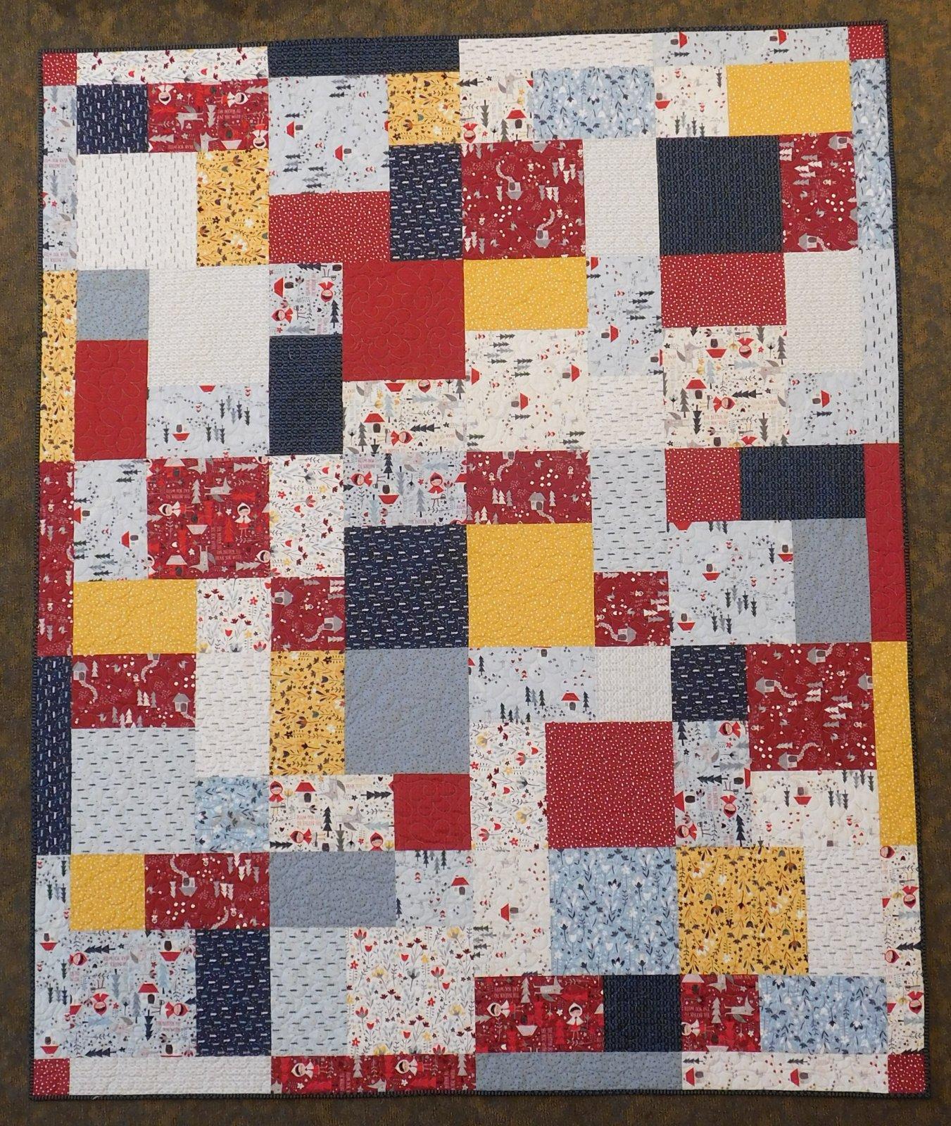 Turning Twenty Little Red Quilt Kit 70 1/2 x 86 1/2