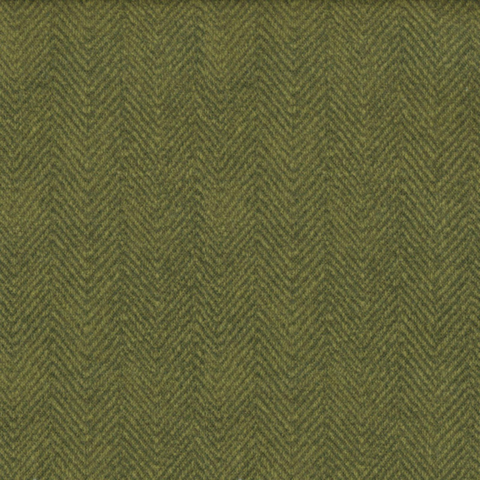 Woolies Flannel - Herringbone - Green