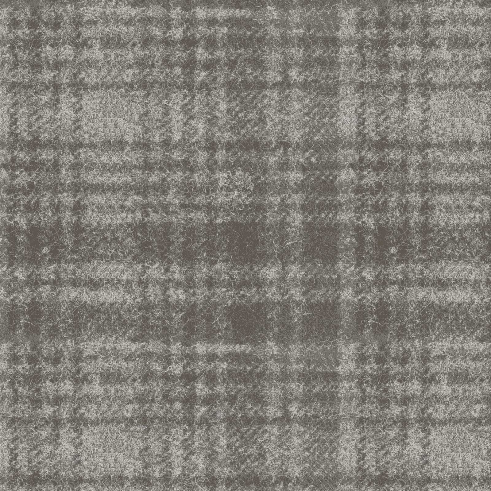 EOB - 1 yard 4.5 - Woolies Flannel - Windowpane - Grey