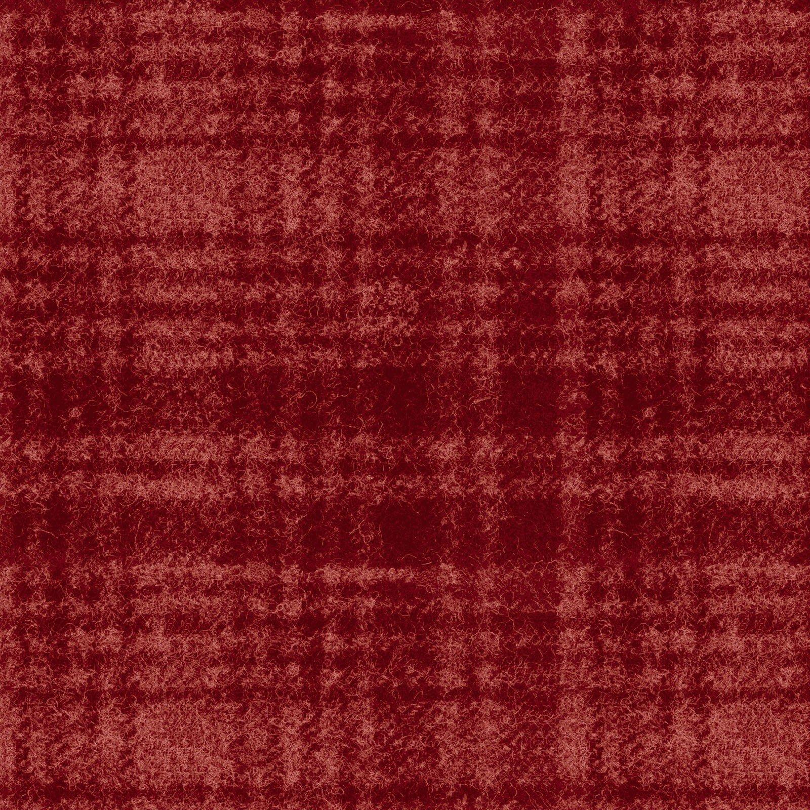 Woolies Flannel - Windowpane - Dark Red