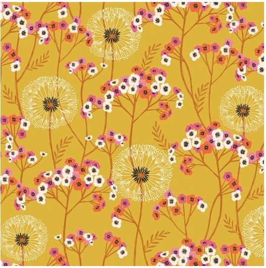 Aviary - Meadow Florals - gold