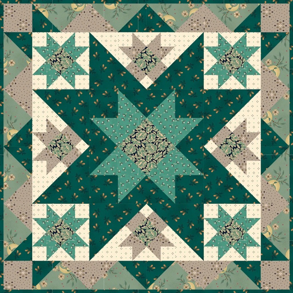 Simple Whatnots 10 - Midnight Quilt Kit - 20 1/2 x 20 1/2