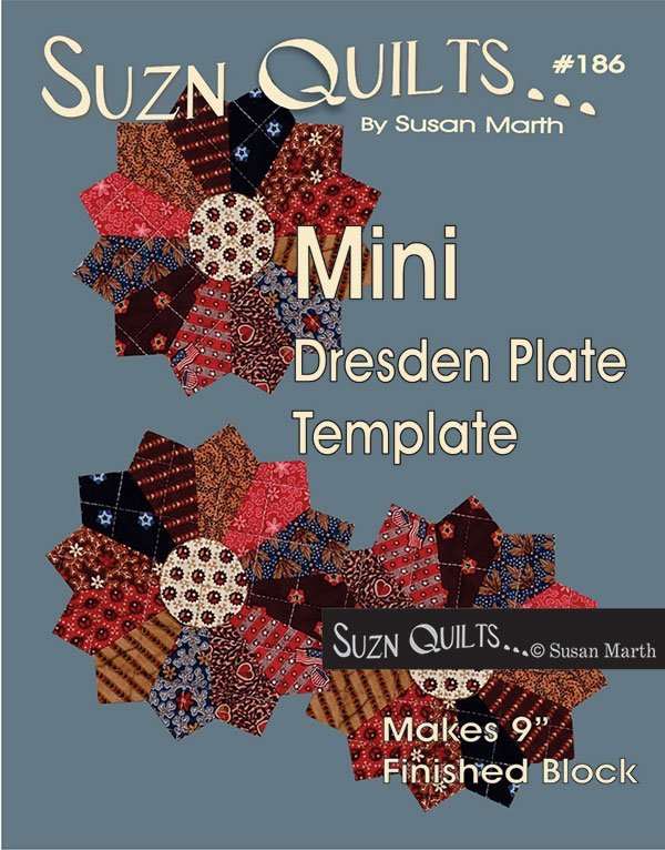 Mini Dresden Plate Template - by Suzn Quilts