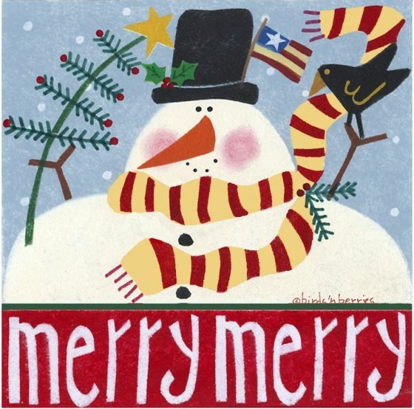 Merry Merry Mr. Frosty 3 Note Cards