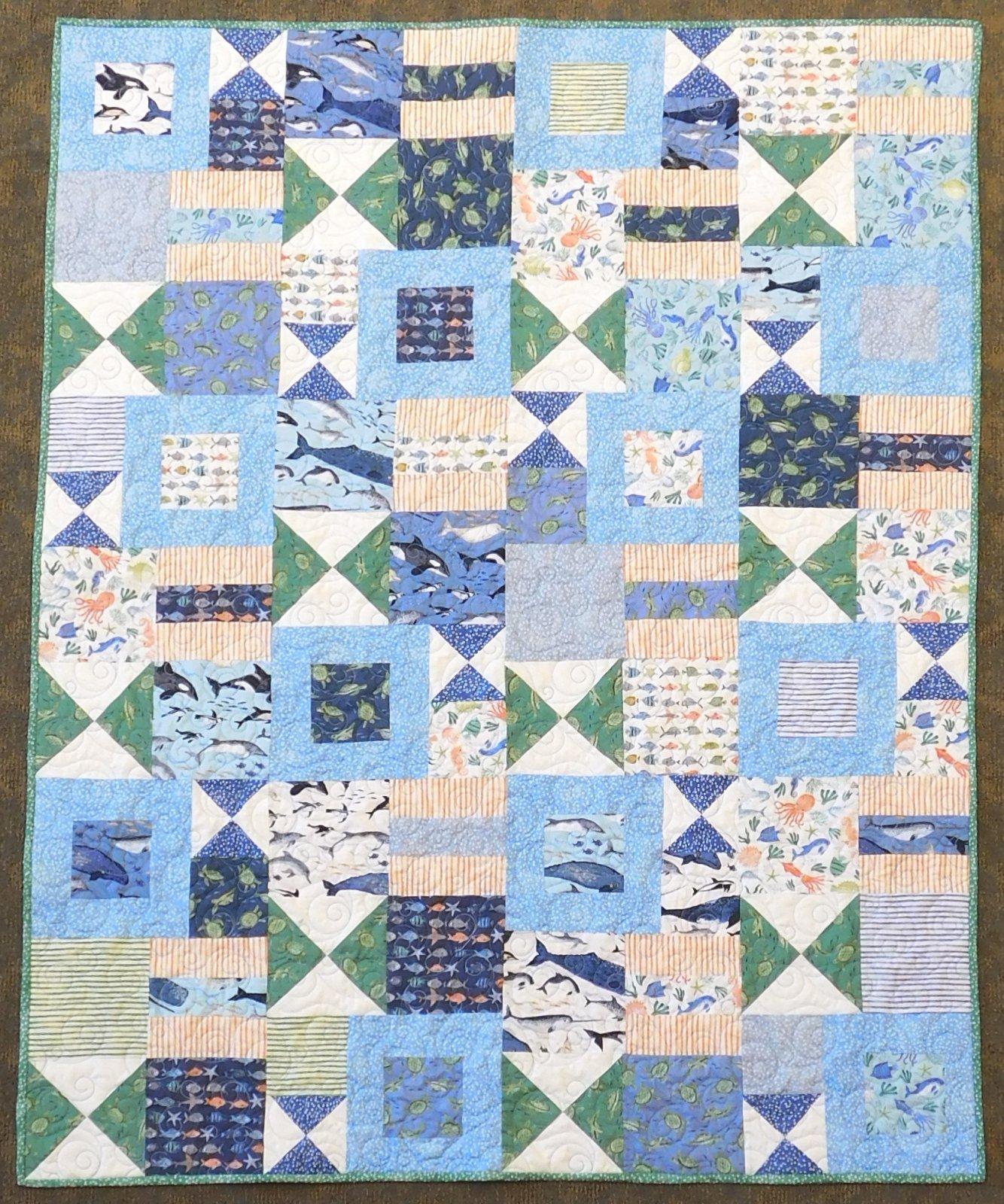 Oceans Away Quilt Kit - 48 x 60