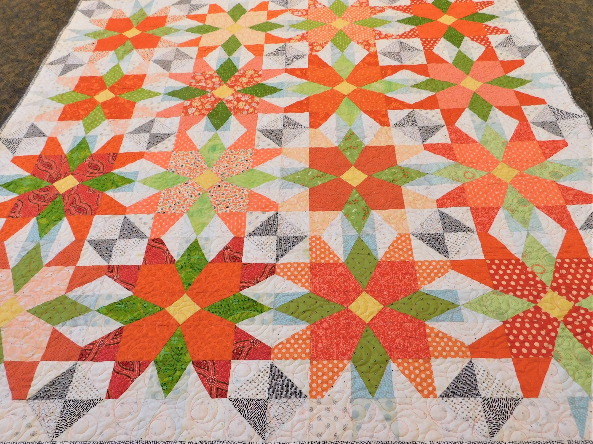 Out On The Patio Quilt Kit - 66 1/2 x 66 1/2